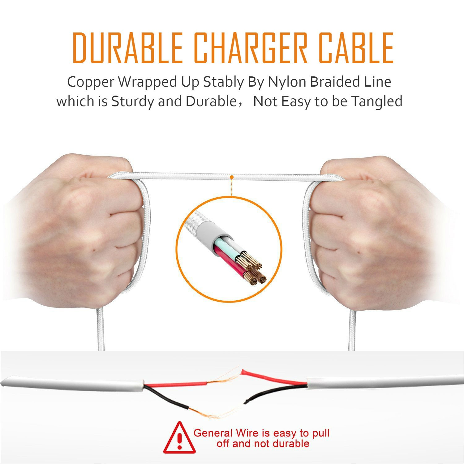 Usb Wall Charger Certified 5w Universal Portable Travel Dj Wiring Diagram Adapter W Braided Micro 6ft 2m High Speed Cable For Samsung Lg Motorola Nexus