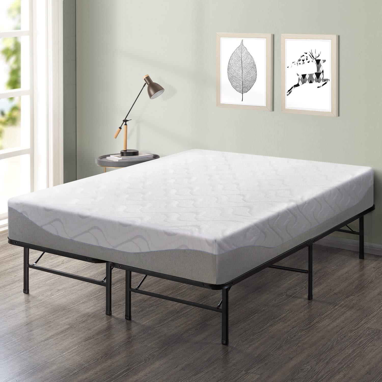 Best Price Mattress 11 Gel-Infused Memory Foam Mattress 14-inch Premium Metal Bed Frame Set – Queen