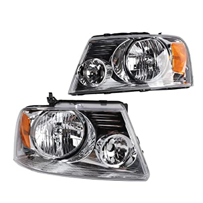 2PC Driver & Passenger Headlights Headlamps Set Replacement fit for 2004 2005 2006 2007 2008 ford F-150: Automotive
