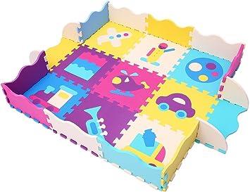 XMTMMD niños Puzzle Play Mat Colorido Suave no tóxico Jigsaw Espuma baldosas de Piso y Juguetes AM24B: Amazon.es: Juguetes y juegos