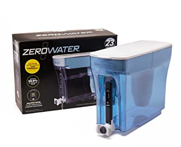 ZeroWater 23 taza filtro de agua dispensador con libre Medidor de TDS