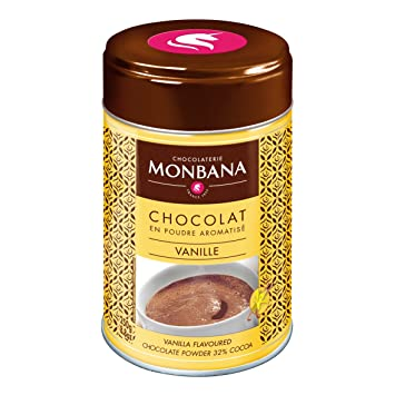 Monbana Vanilla Flavoured Powdered Chocolate, 250g