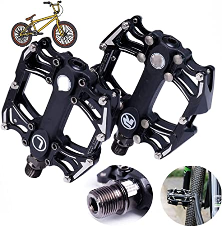 NINI Pedal de Bicicleta Antideslizante, Pedales de Bicicleta MTB de Aluminio, Pedales de Bicicleta de montaña duraderos, Pedales de Bicicleta Antideslizantes BMX, par: Amazon.es: Hogar