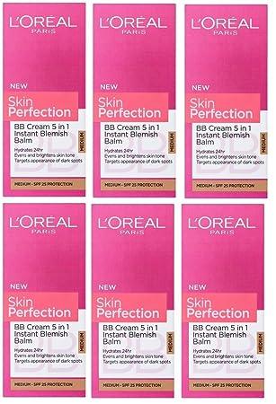 Loreal Paris Skin Perfection Bb Cream Medium Spf 50ml 6 Pack