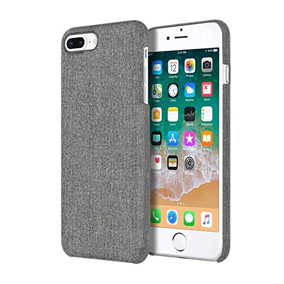 uk availability 41e4f 91ac2 Incipio Slim Case [Esquire Series] iPhone 8 Plus Case for iPhone 8 Plus -  Gray Fabric