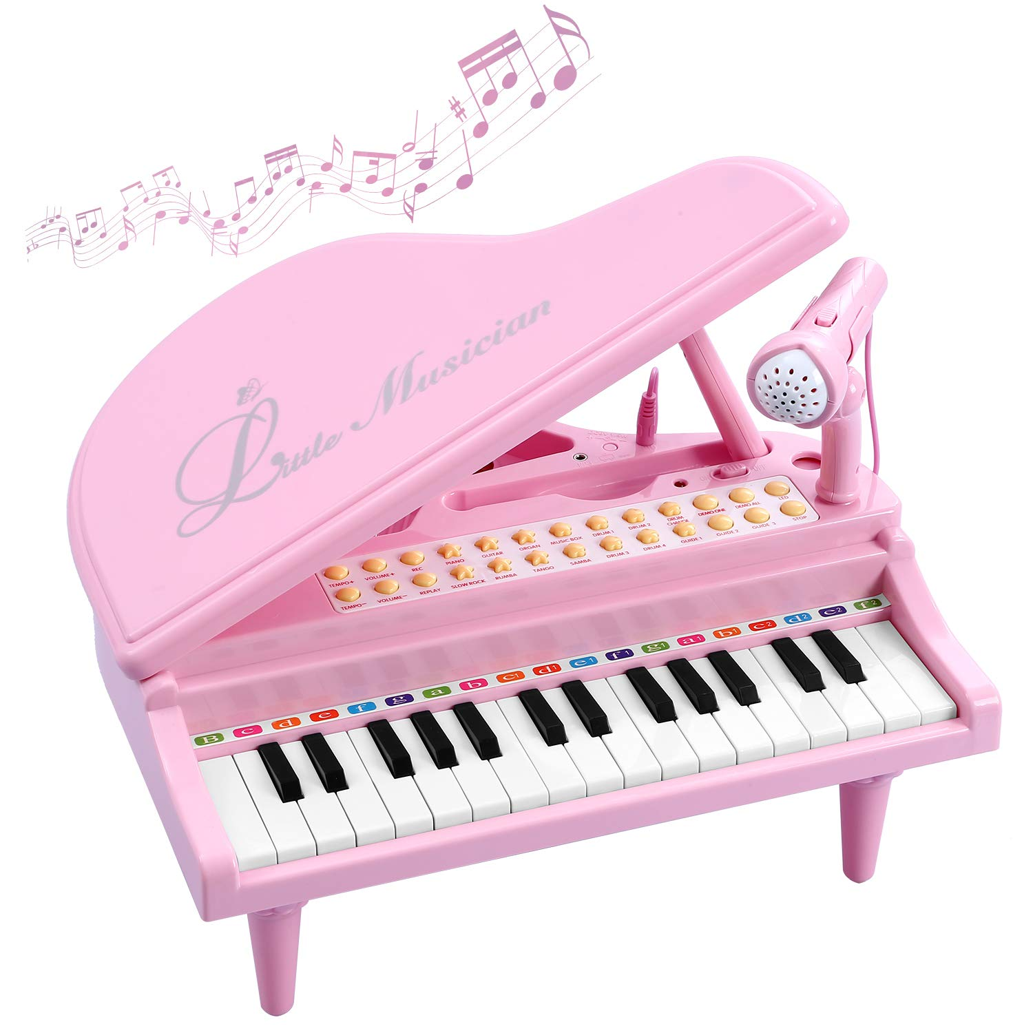 BAOLI Toy Piano for Kids - Birthday Gift for 3 4 5 6 Year Old Girl - Educational Piano Musical Instrument Toys - Keyboard for Child with Built-in Microphone & Music Modes 31 Keys