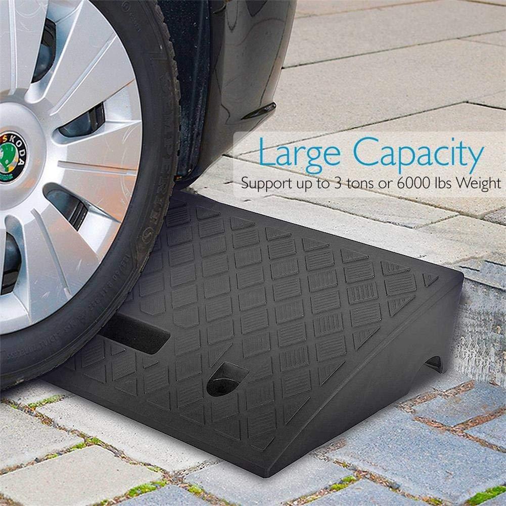 Car Driveway Curb Ramp Heavy Duty Rubber Curb Ramp