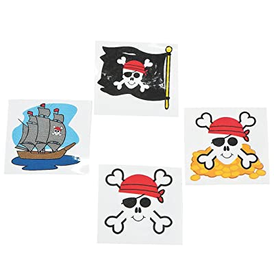 Pirate Tattoos 72 Per Package, Assorted Styles: Beauty