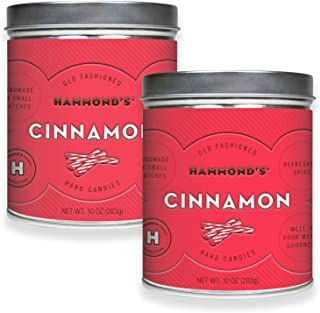 product image for Hammond's Candies - Old Fashioned Cinnamon Pantry Candies - 2 - 10 Ounce Tins, Sugar Dusted Cinnamon Drops, Handmade in Small Batches, Using the Finest Ingredients, Handcrafted in the USA