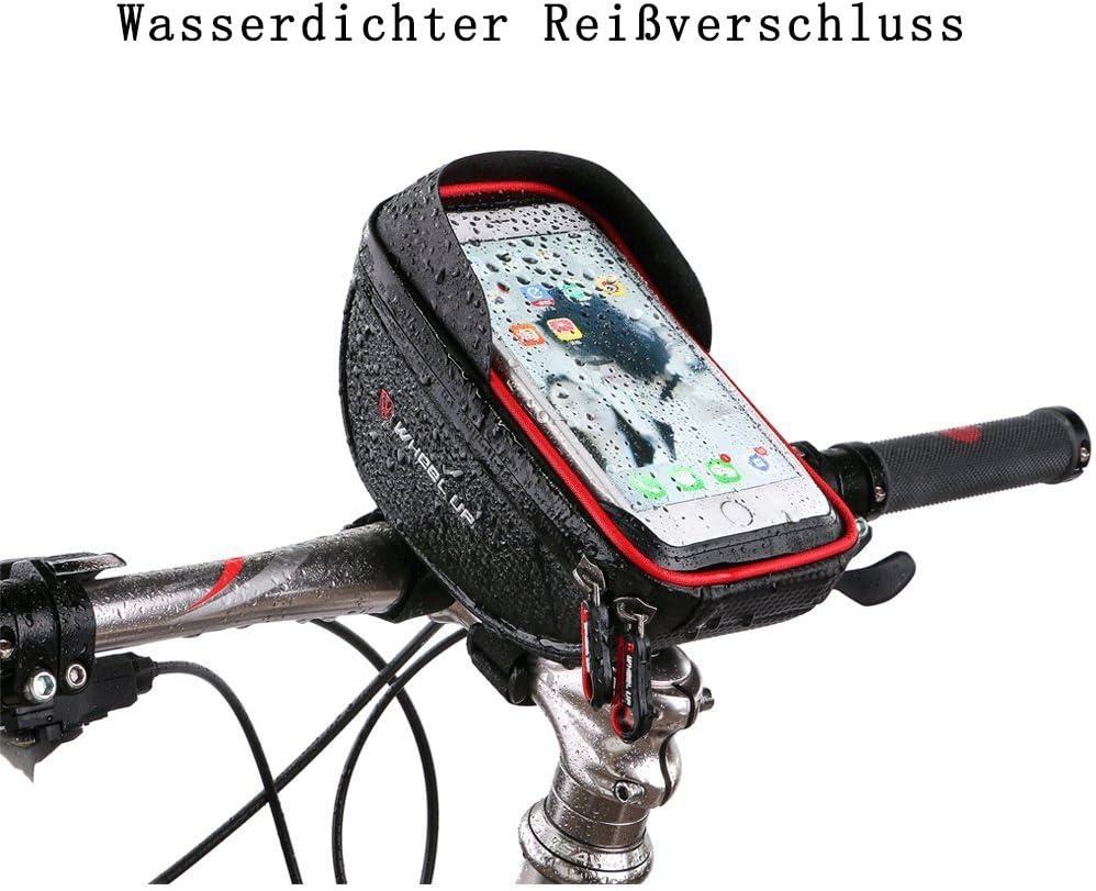 Selighting Bolsa Bicicleta Manillar Impermeable Bolsa M/óvil de Bici Monta/ña BTR Carretera Bolso Delantero de Bicicleta para Tel/éfono Movil Dentro de 6,0 Pulgadas