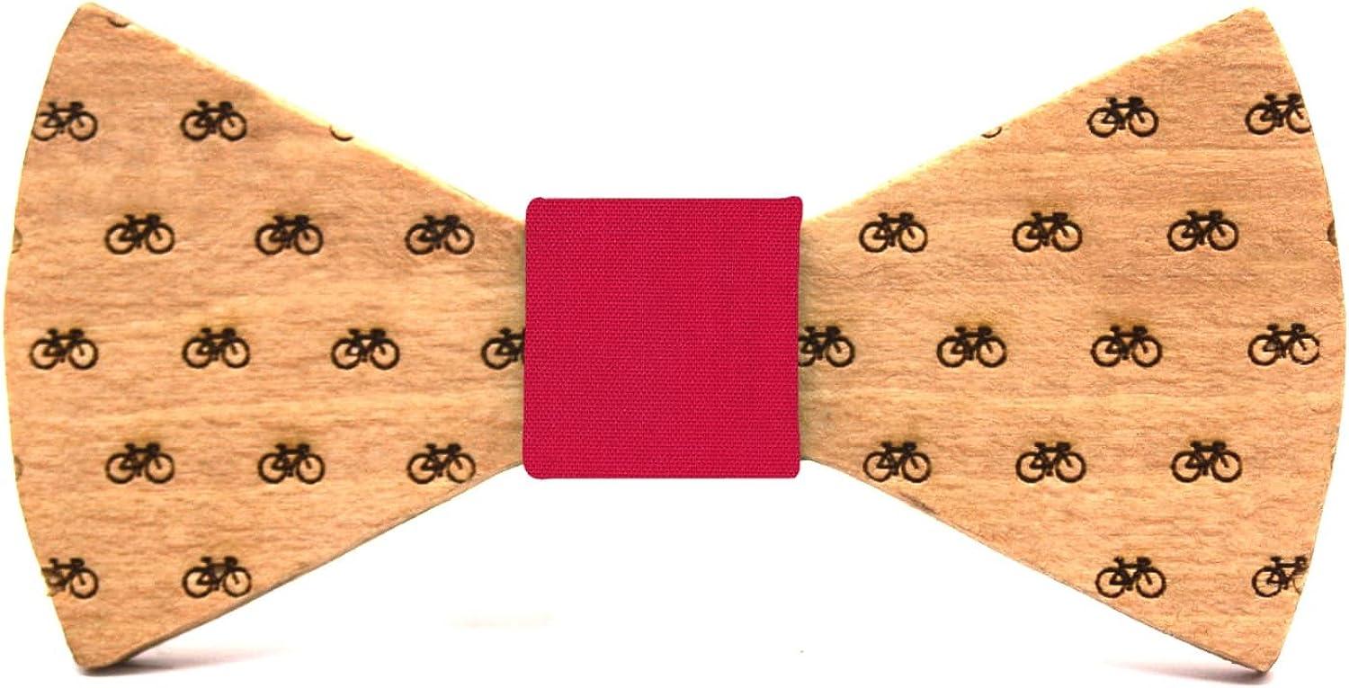 Dise/ño con bicicletas Regalo divertido y original Territorial Pajarita de madera Bike para ni/ño Colecci/ón de moda infantil: Confeccionada en Espa/ña L/ínea boda y eventos