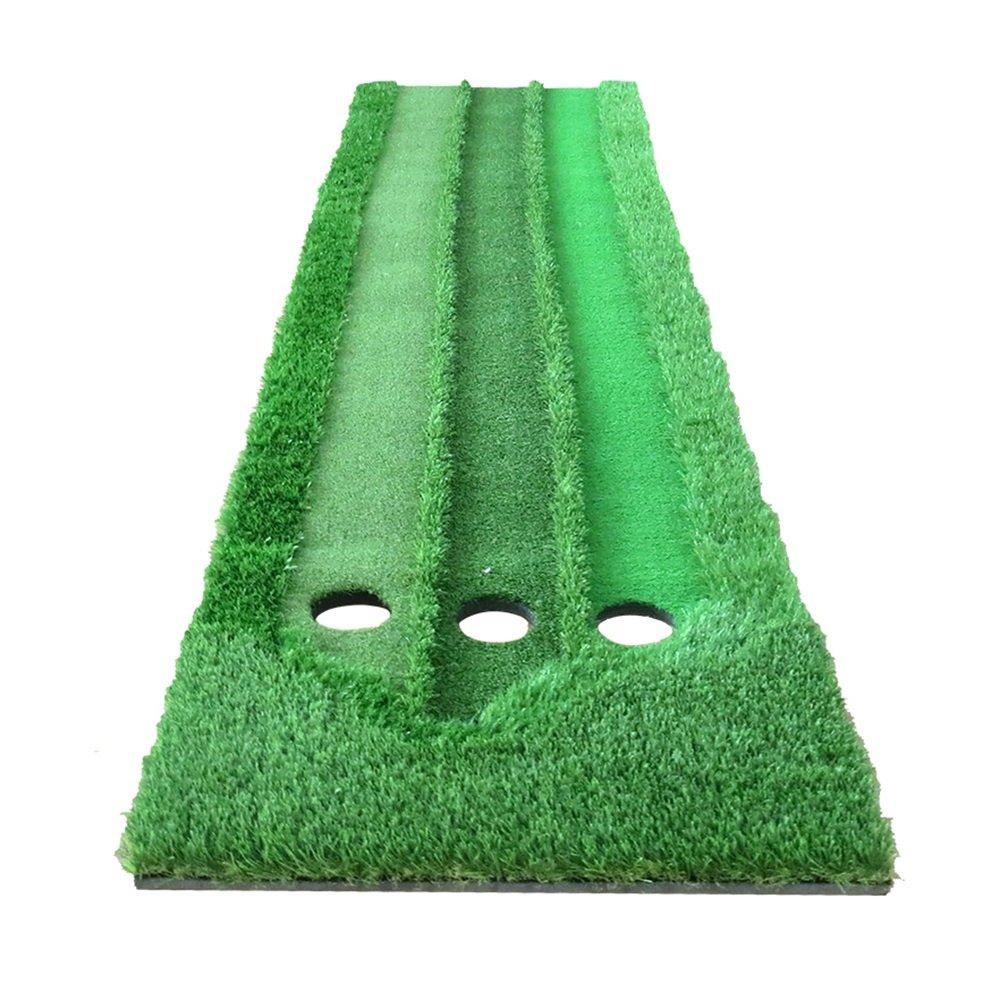 Three Speed Grass Golf Putt Practice Mat Indoor Mini Exercise Blanket 70 300cm