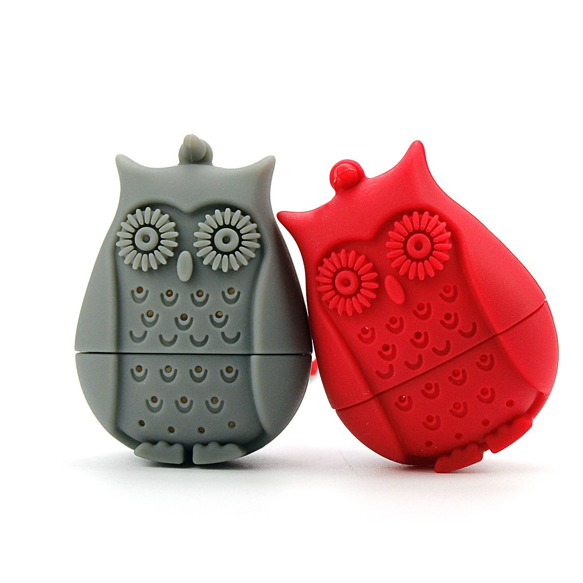 i-JCT Owl Tea Ball Infuser Strainer Owl Silicone Tea Bag Filter 2PCS (BLUE+ROSE) i-JCT CO. LTD