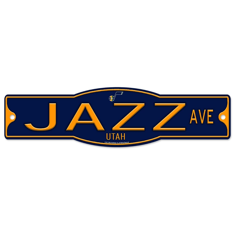Utah Jazz 4\' x 17\' Plastic Street Sign NBA WinCraft