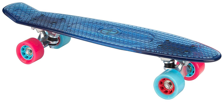 Nijdam TRS Plastik Skateboard Transparent/Hellblau/Fuchsia One Size/22.5 Zoll NIJAA|#Nijdam Schreuders Sport_52NC-TBF-Uni