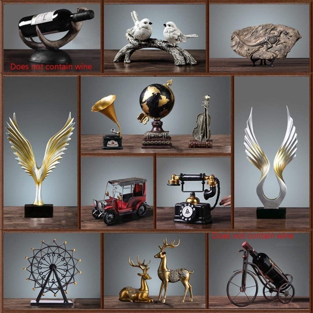 デスク装飾彫刻 19世紀の自動車の彫像赤い樹脂工芸品ホームデコレーションコレクション - 複数のスタイルがあります JAHUAJ (Color : C)