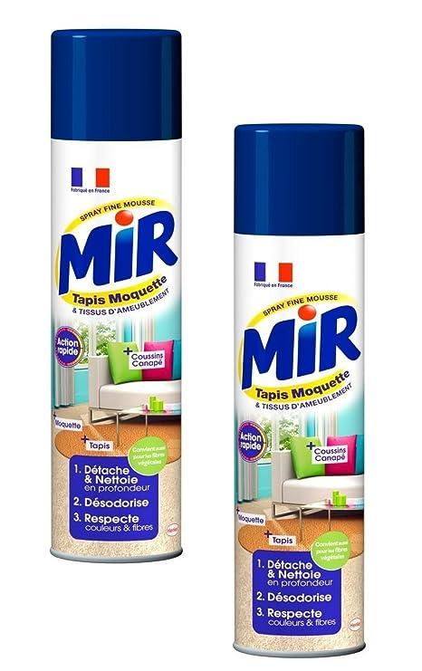 Mir Nettoyant Tapis Et Moquettes Spray Mousse 600 Ml Lot De 2