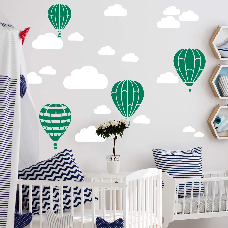 Gold Sticker Kinder Kinderzimmer Deko Ballons Wandbild 6x