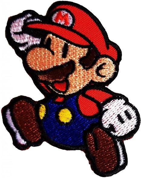 Super Mario Bros Mario de Super Mario Videojuegos Comic Patch Kids ...