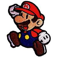 Super Mario Mario Bros Mario Comique Patch '' 6,5 x 8 cm '' - Écusson brodé Ecussons Imprimés Ecussons Thermocollants Broderie Sur Vetement Ecusson Comique