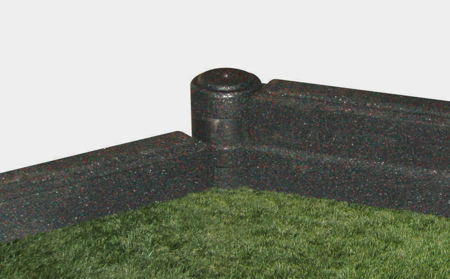 Gardening or Playground Edging Landscaping FlexiStack 4 Foot Rubber Border Package of 4 Black
