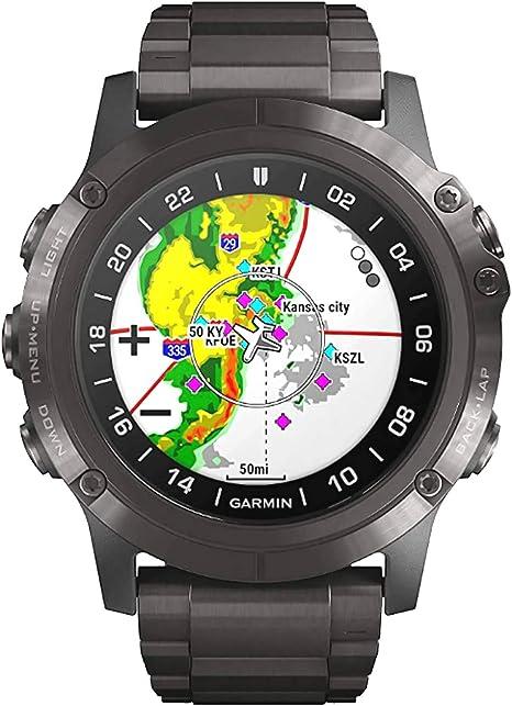Smartwatch Garmin D2 Delta PX DLC Sapphire Titanium 010-01989-31: Amazon.fr: Montres