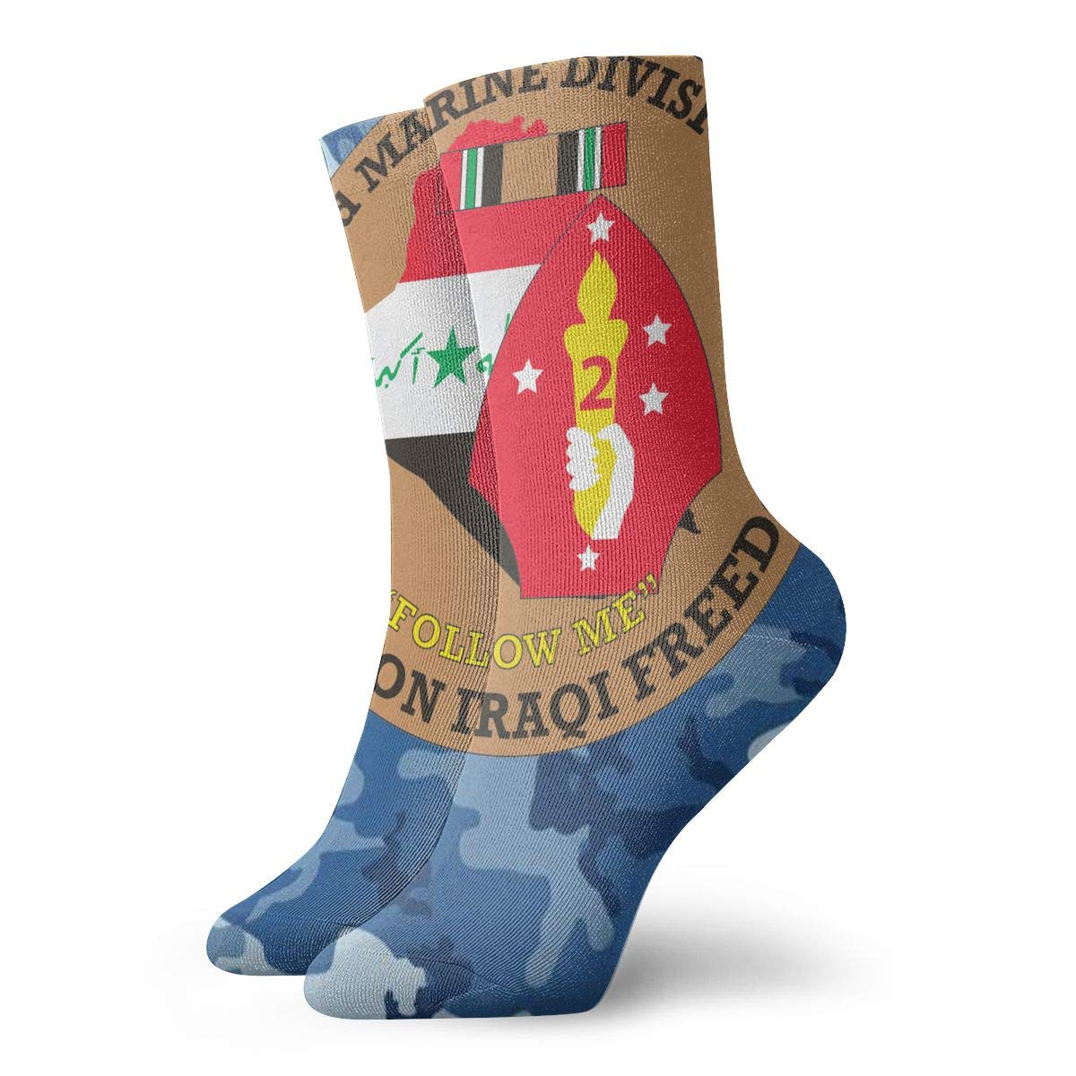 2nd Marine Division OIF Unisex Holiday Sock 30cm Long Sock