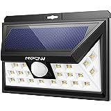 Mpow 24 LED Weitwinkel Warmweiße Solarleuchten Außen Solar Betriebene Außenleuchte, Wandleuchte, Energiesparende Wasserdichte 3 Modi Sicherheit Bewegungs-Sensor-Licht für Garten, Patio, Deck, Hof