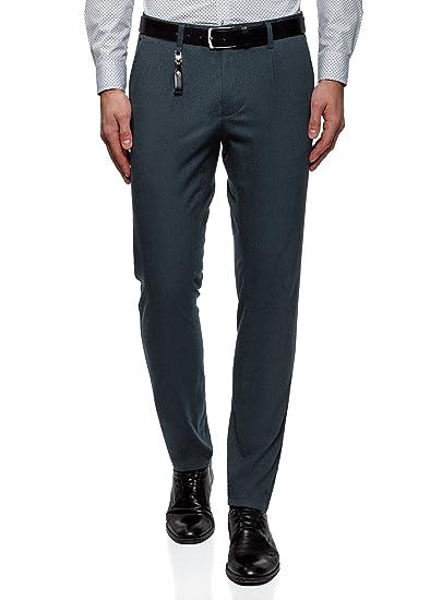 oodji Ultra Hombre Pantalones Chinos con Decoración: Amazon.es: Ropa y accesorios