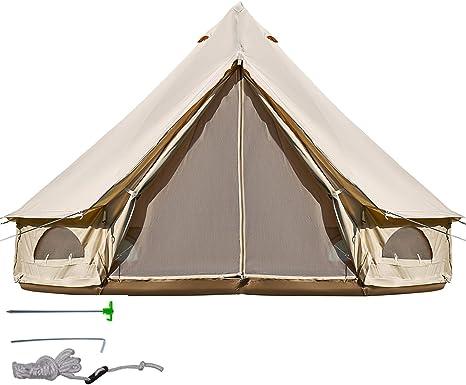 BuoQua Tienda de Campaña 10-12 Personas/ 6M Yurta Mongolia Tiendas Camping Tienda Yurta Mongola Tienda de Campaña Familiar Montaje Rápido Tienda de Campaña al Aire Libre: Amazon.es: Deportes y aire libre