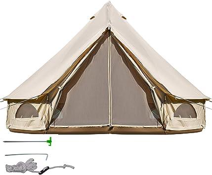 BuoQua Tienda de Campaña 3-12 Personas 3M/4M/5M/6M Yurta Mongolia Tiendas Camping Tienda Yurta Mongola Tienda de Campaña Familiar Montaje Rápido ...