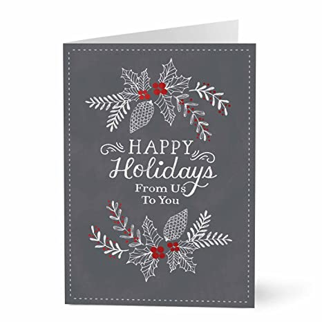 Amazon hallmark business holiday card for customers or hallmark business holiday card for customers or employeess artistically drawn pack of 25 reheart Images