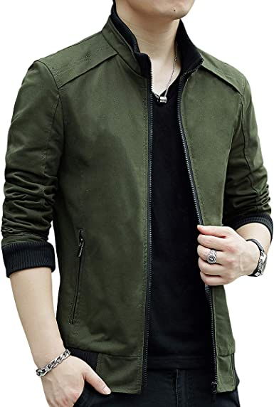 Womleys Mens Casual Windbreaker Outerwear Cotton Lightweight Jackets