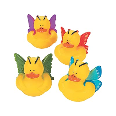 Fun Express - Butterfly Ducks - Toys - Character Toys - Rubber Duckies - 12 Pieces: Toys & Games