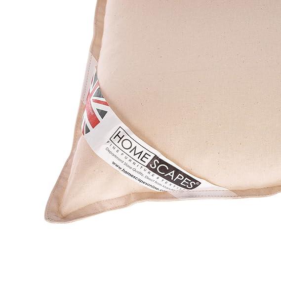 HOMESCAPES - Cojín de algodón orgánico Lavable en casa ...