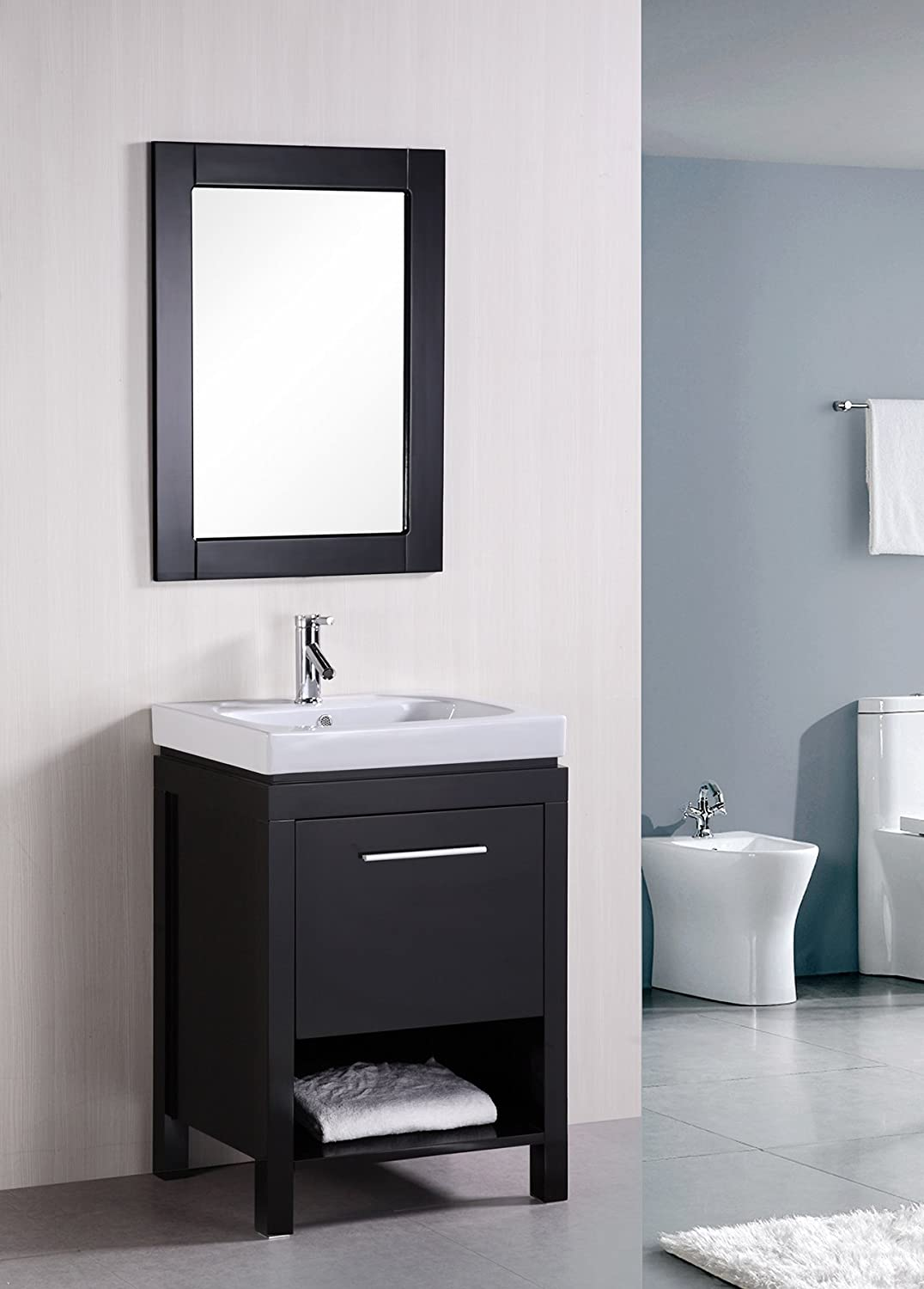Design Element New York Double Integrated Porcelain Drop-In Sink ...