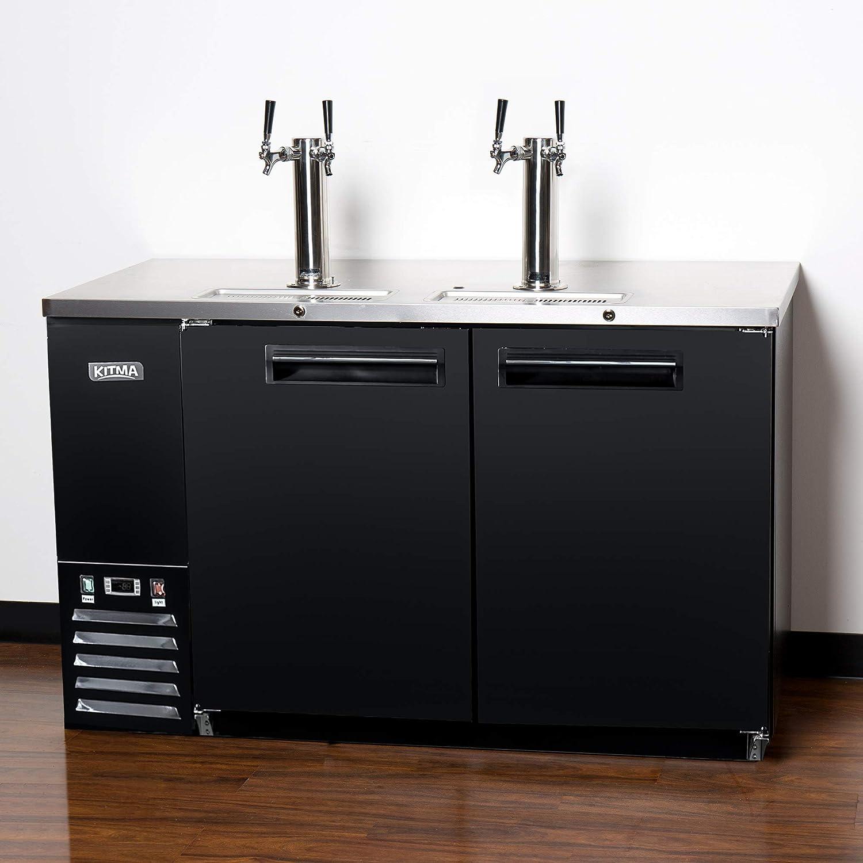 Refrigerador comercial de doble grifo Kegerator - KITMA 58 ...