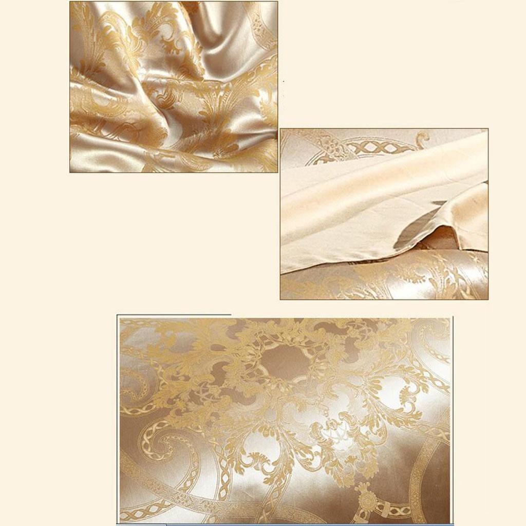 L&M European style silk Four sets Mulberry silk Sided Silk Solid color Wedding Kit Bed Supplies 200 230 cm , gold , 200230cm by WANG (Image #6)