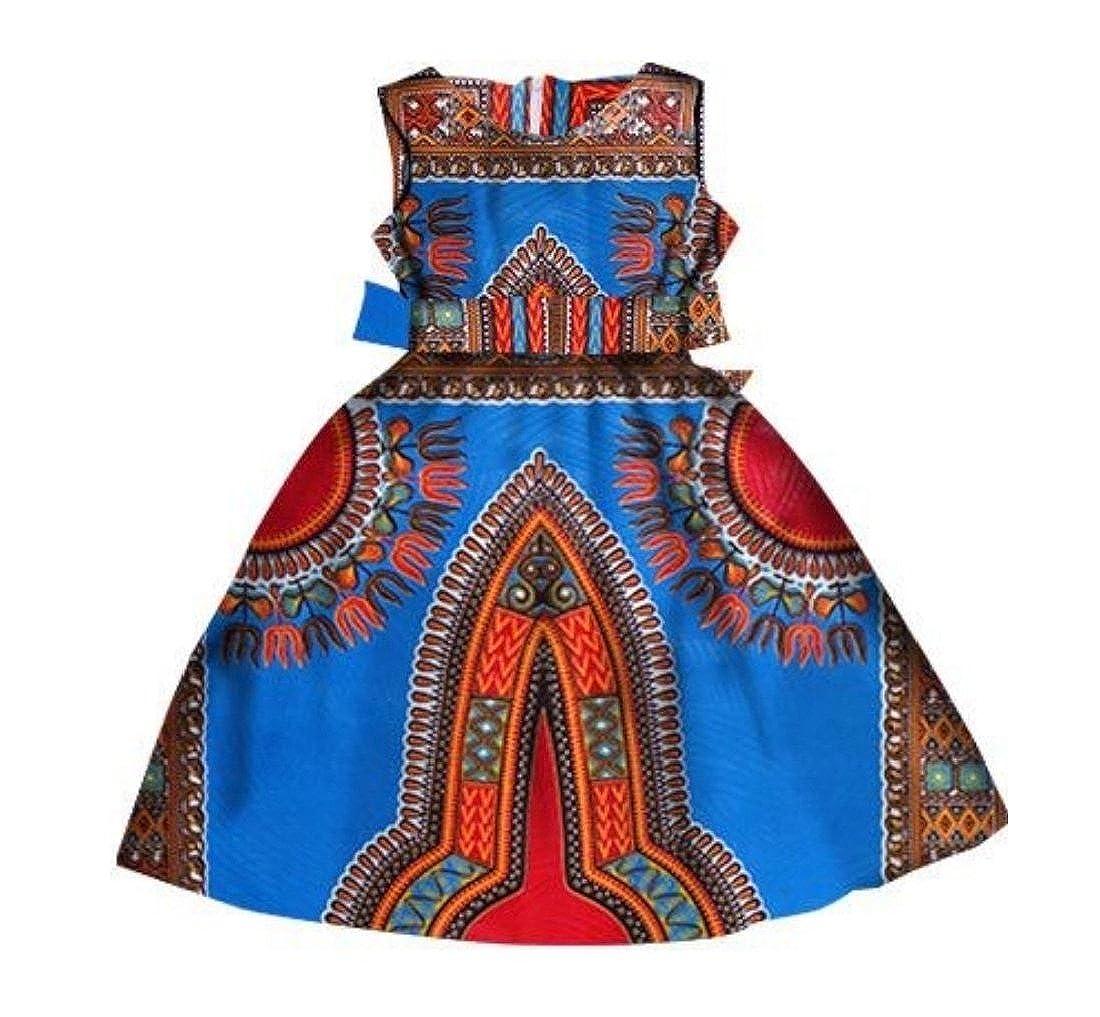 7b318bbe4ca Highisa Girls Fashion African Print Dashiki Long Loose Plus Size Party  Dress at Amazon Women s Clothing store