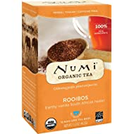 Numi Organic Tea Rooibos, 18 Count Box of Tea Bags (Pack of 3) Herbal Teasan (Packaging May Vary)