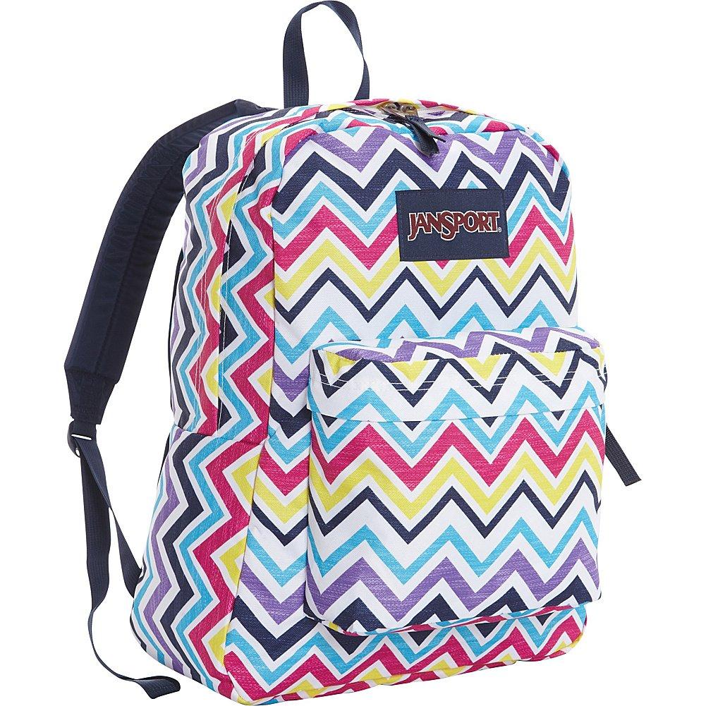 JanSport Superbreak Backpack- Sale Colors (Multi Saucy Chevron) by JanSport (Image #1)