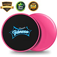 (Pink) - LAMSEA Exercise Sliders Fitness, Dual Sides Strength Slides Workout Slider Gliding Discs for Exercise Equipment Core Discs Sliders Perfect Used on Carpet or Hard Floors