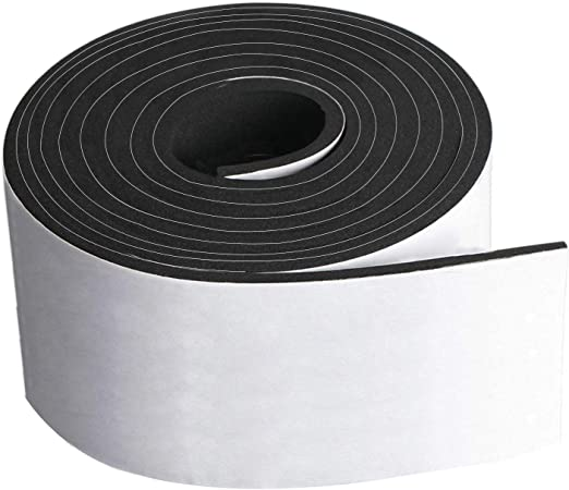 "NEW! Weather Stripping Adhesive Backed 8 Foot Roll 1/"" x 1//4/"""
