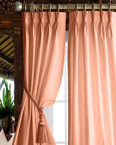 Magic Drapes Triple Pinch pleatcurtain Rod Home d cor 100 Polyester Blackout Window Curtain Panel Drapes and Thermal Insulation 52×108