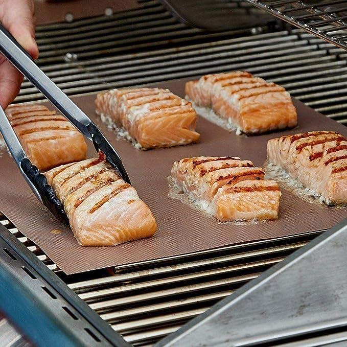 Dauer BBQ Grillmatte Unterlage Backmatte /& Antihaft-Bratfolie aus Glasfaser DE