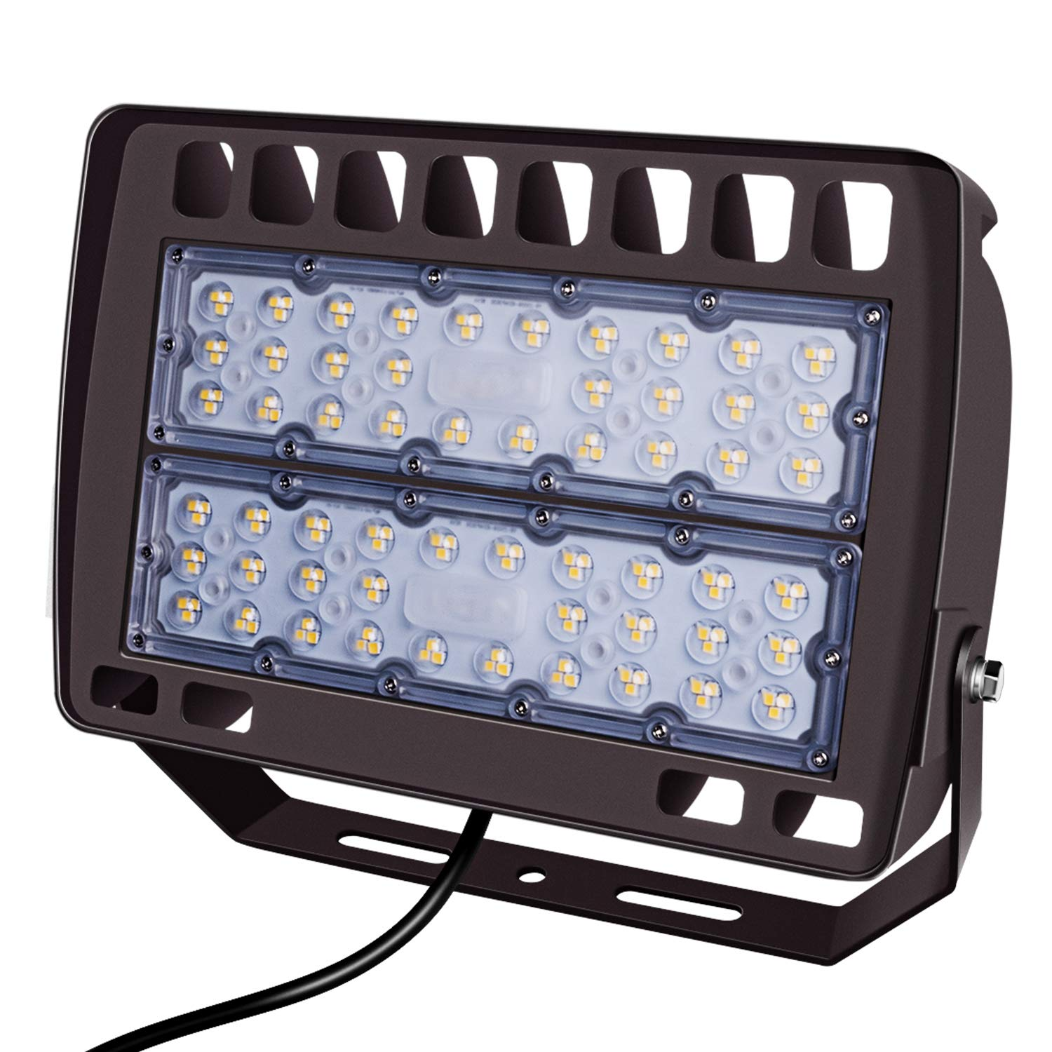 FaithSail 150W LED Flood Light Outdoor Stadium Lights, 16500LM, 5700K, IP66 Waterproof LED Floodlight, Ultra Bright Parking Lot Arena Perimeter and Security Lighting Fixture for Court, Yard, Garden
