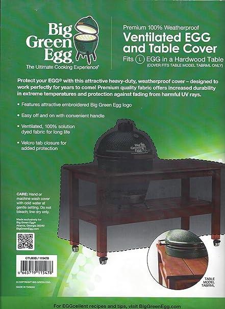 Prime Amazon Com Big Green Egg Embroidered Hardwood Table Interior Design Ideas Gentotryabchikinfo