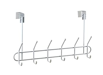 Perfect Spectrum Diversified Over The Door Coat Rack, 6 Hook, White