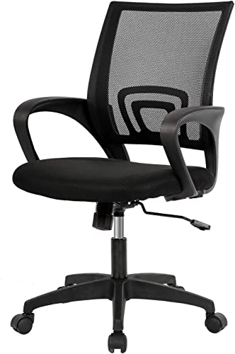 Home Office Chair Ergonomic Desk Chair Mid-Back Mesh Computer Chair Lumbar Support Comfortable Executive Adjustable Rolling Swivel Task Chair