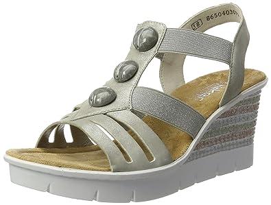 Rieker Damen V6548 Offene Sandalen mit Keilabsatz  Amazon.de  Schuhe ... 0cedb63e214